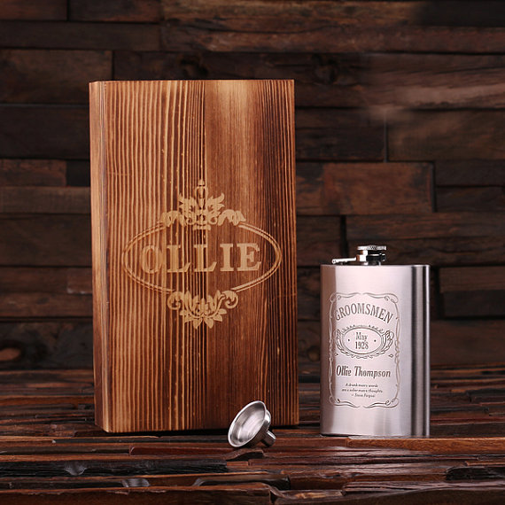 Personalized Stainless Steel 18oz Man Up Flask TP-024852
