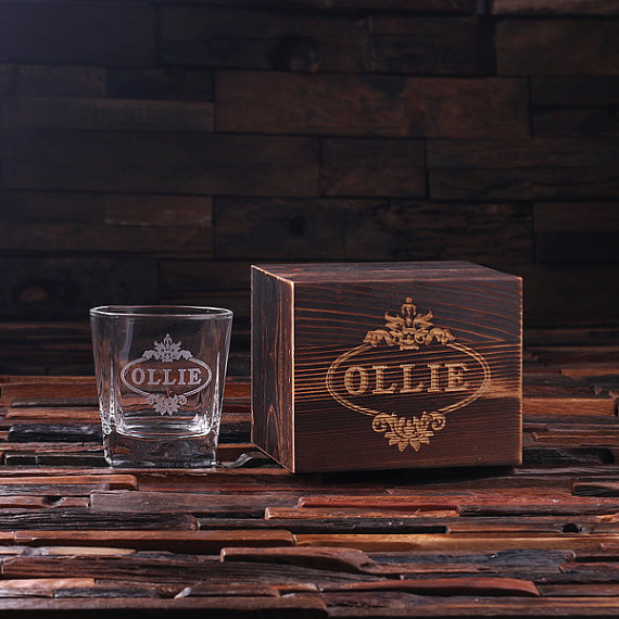 Personalized 8oz Scotch Glass Boxed Set TP-024971
