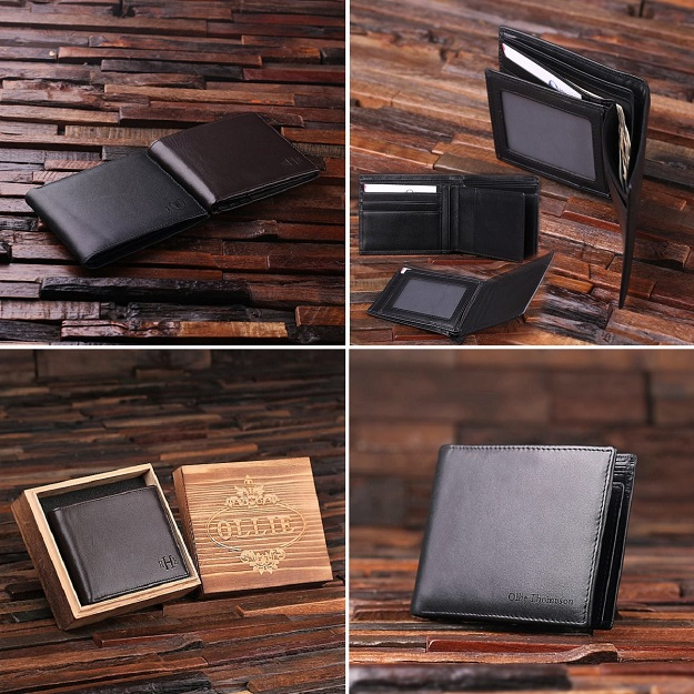 Monogrammed Mens Leather Wallet TP-024979