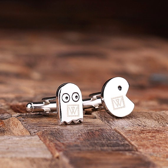 Engraved Pac Man Cufflinks TP-025061