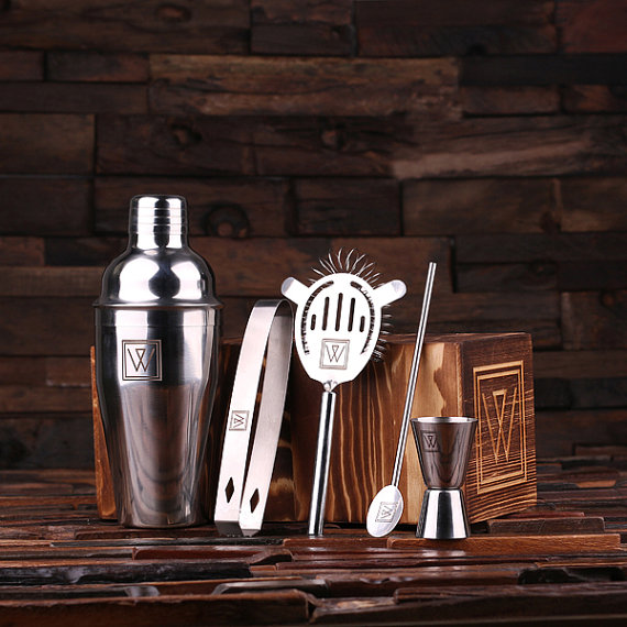 Personalized 5 Piece Stainless Steel Cocktail Set TP-025077