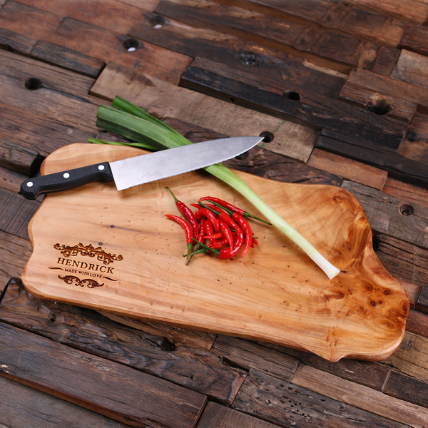 Engraved Plank Cedar Wood Cutting Board TP-025205