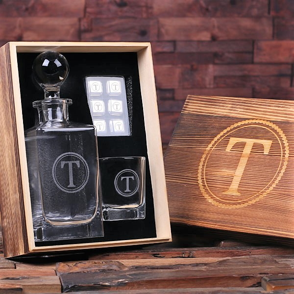 Engraved Box Kaypear Decanter Set With Cubes TP-025246