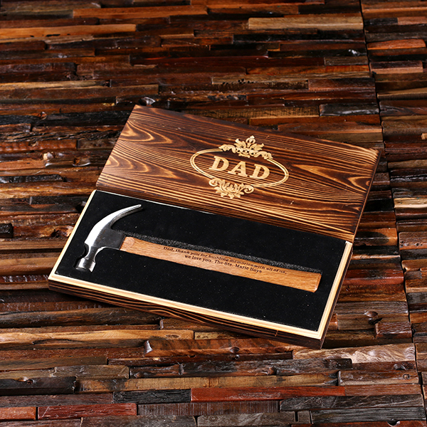Engraved Poundeet Hammer With Rustic Box TP-025382_EngravedBox
