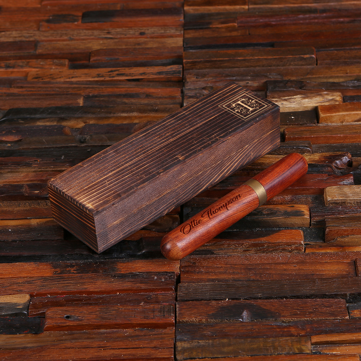 Fine Line Merbau Wood Cigar Set TP-025393