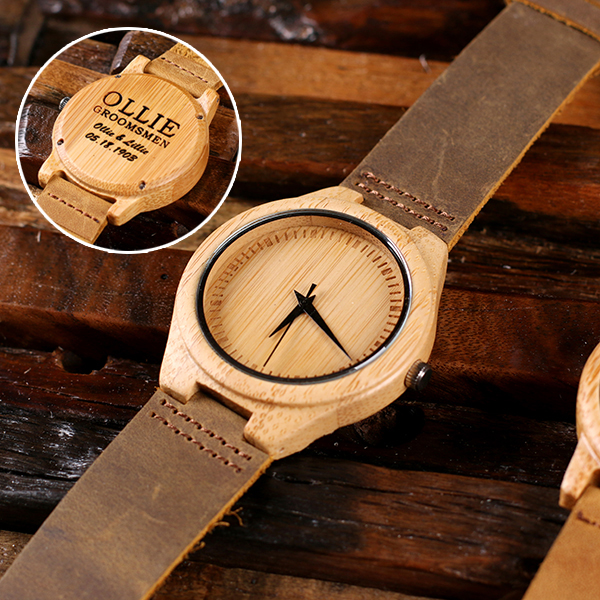 Engraved Spieers Wood Wrist Watch TP-025400