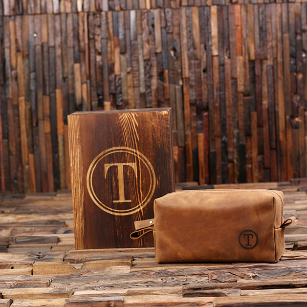 Personalized Leather Cowboy Travel Dopp Kit Bag TP-025517
