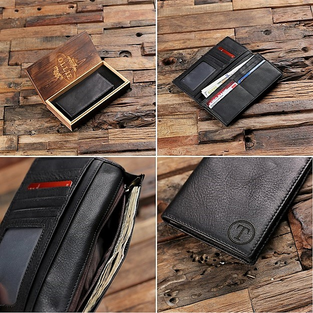 Custom Bifold Midnight Leather Coat Wallet TP-025520
