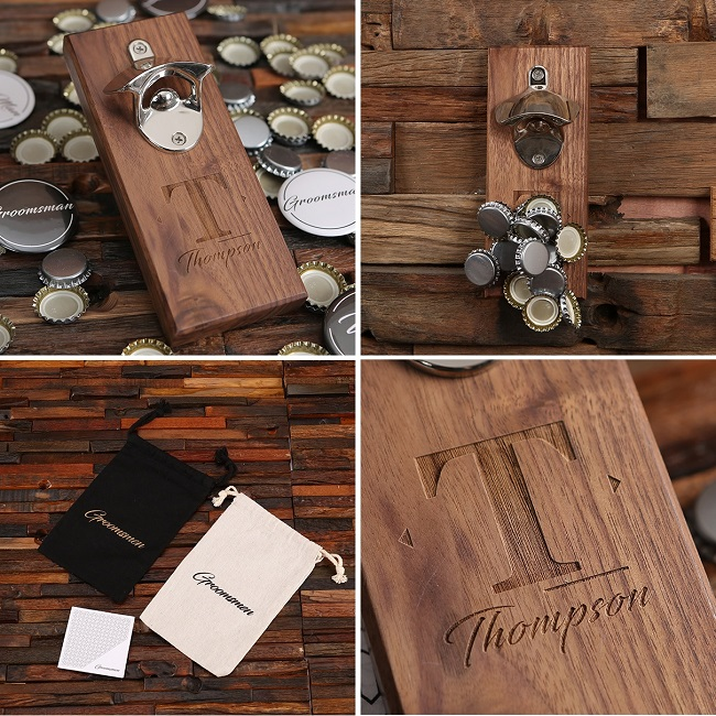 Engraved Magnetic Wall Hanging Bottle Opener TP-026531