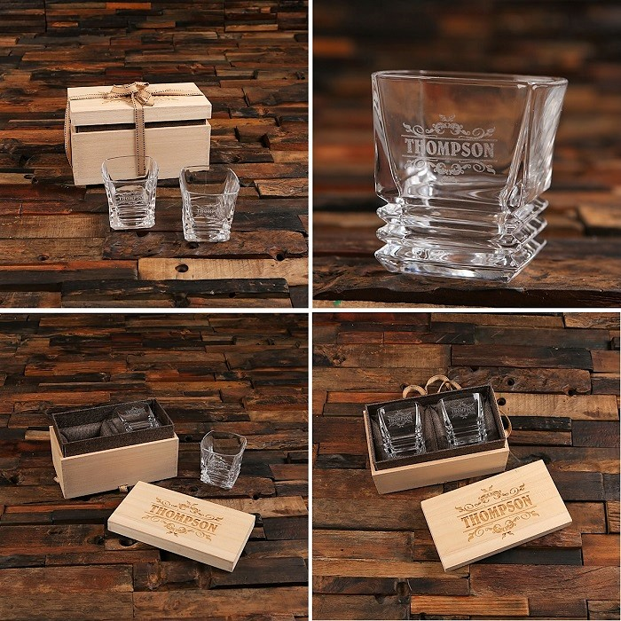 Engraved Whiskey Aficionado Glass Boxed Set TP-027591