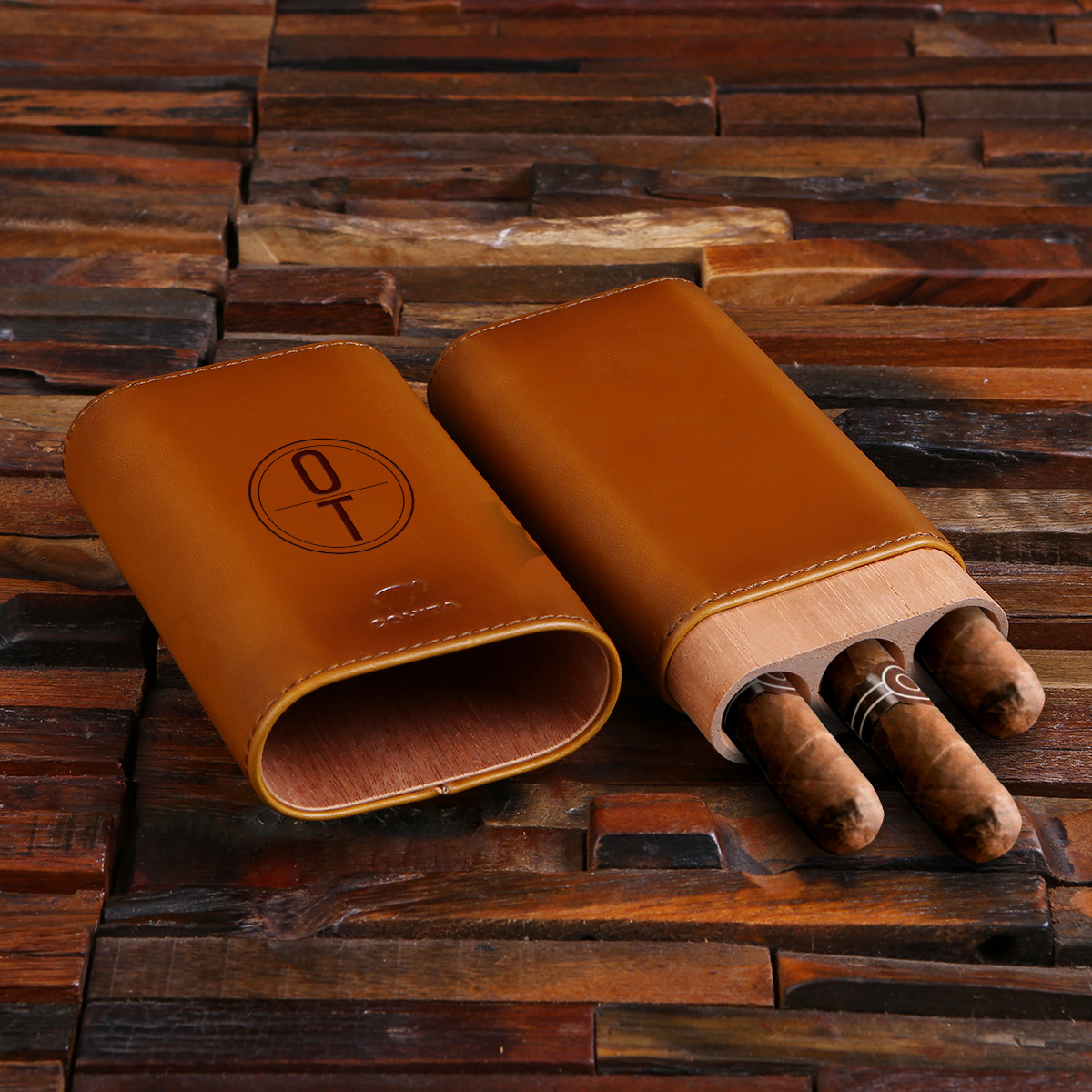 The Three Amigos Leather Cigar Holder TP-027877