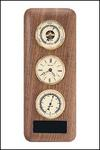 Clock Barometer and Thermometer On Walnut WP342